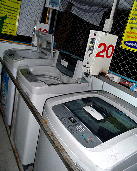Coin operated washing machines in Thailand