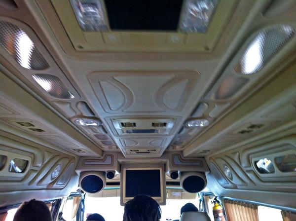 Inside a luxurious Minivan in SE Asia
