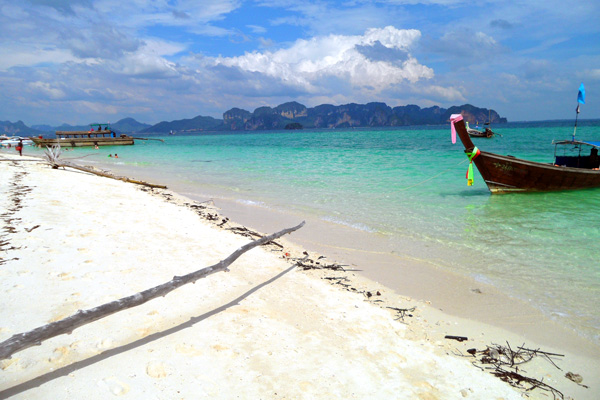 Beach at Poda Island Krabi Thailand