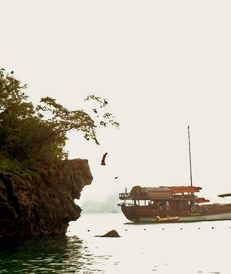 Cliff Jumping at Railay Beach