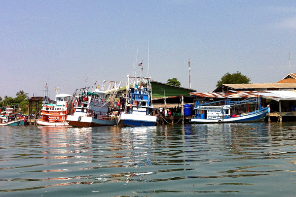 Fisher Boats in Krabi Town