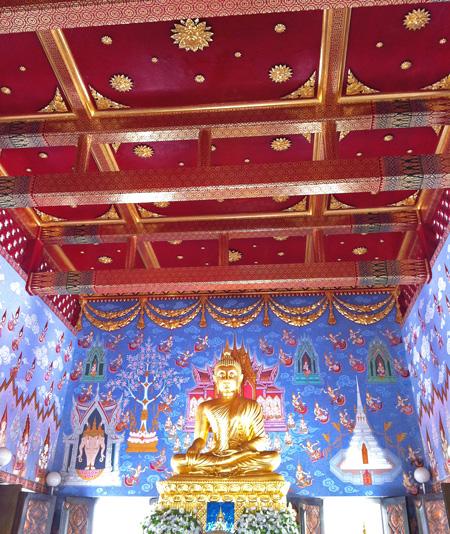 Inside Wat Kaew Krabi