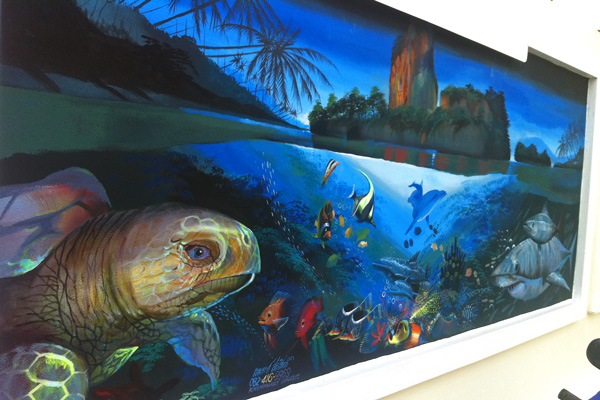 Krabi Art Walk - Sea life in the ocean