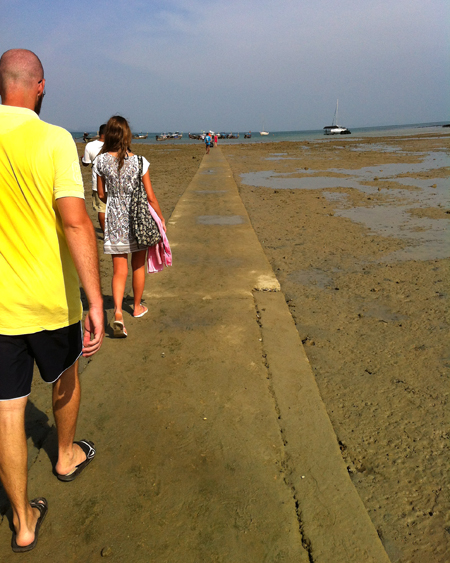 Leaving Railay at Low Tide
