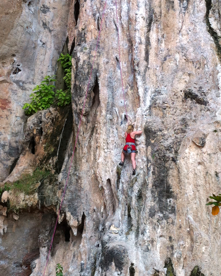 Rock climbing on Railay Thailand
