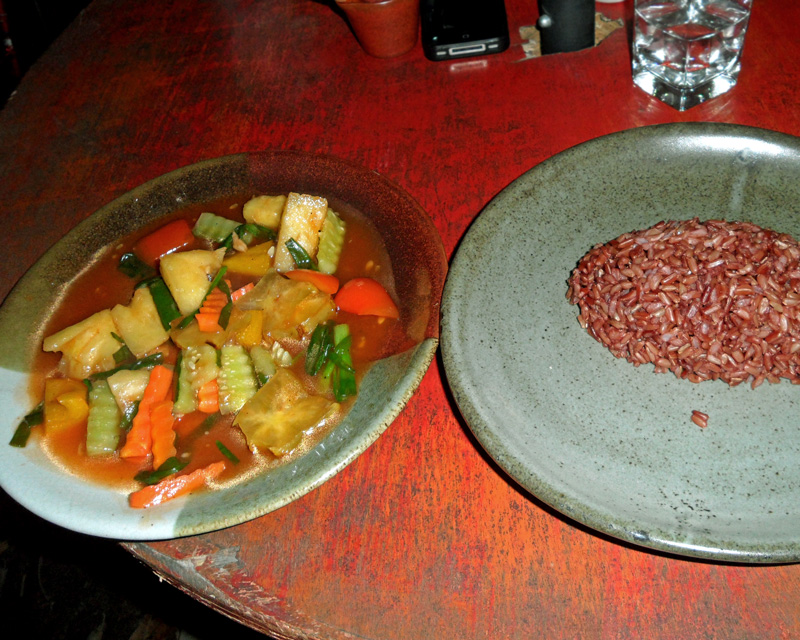 Fried Vegetables Brown Rice