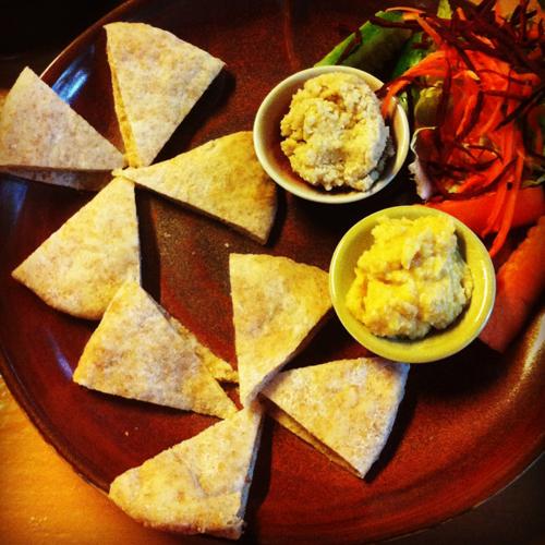 Hummus and Tahini with Pita Bread