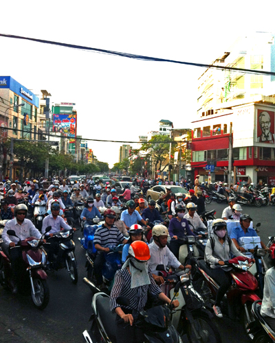 Motorbike Traffic Saigon