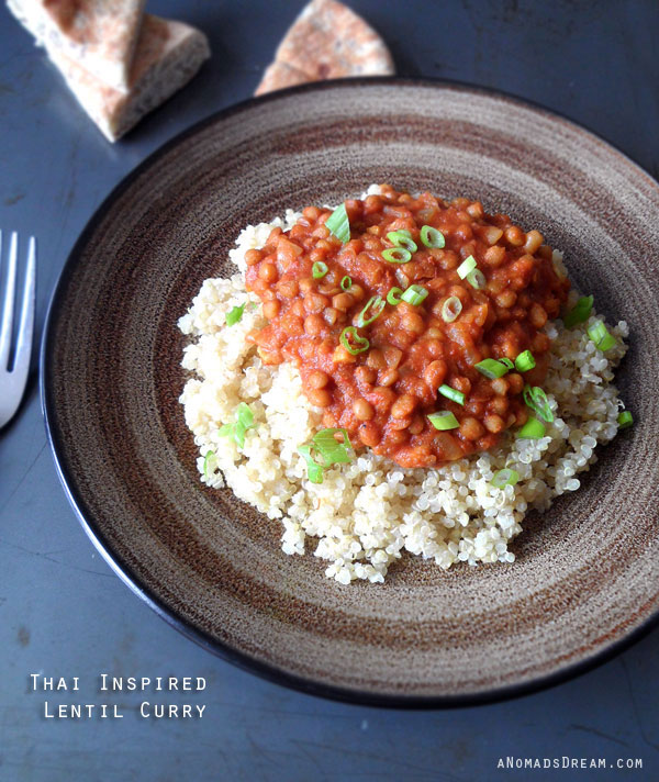 Thai Inspired Lentil Curry | aNomadsDream.com