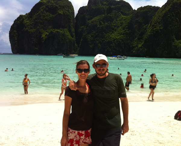 "Maya Bay (Krabi) where ""The Beach"" was shot (with Leonardo Dicaprio)"