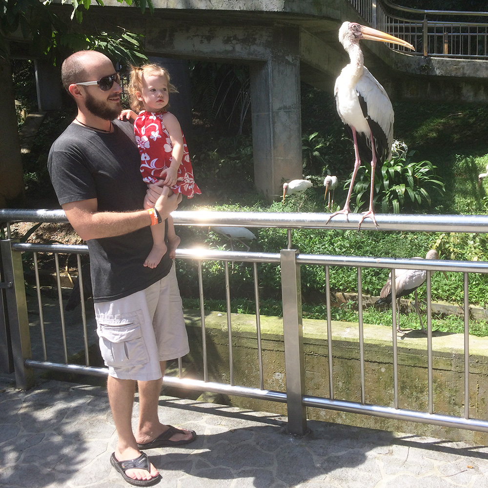 Me with Olivia at Bird Park in Kuala Lumpur