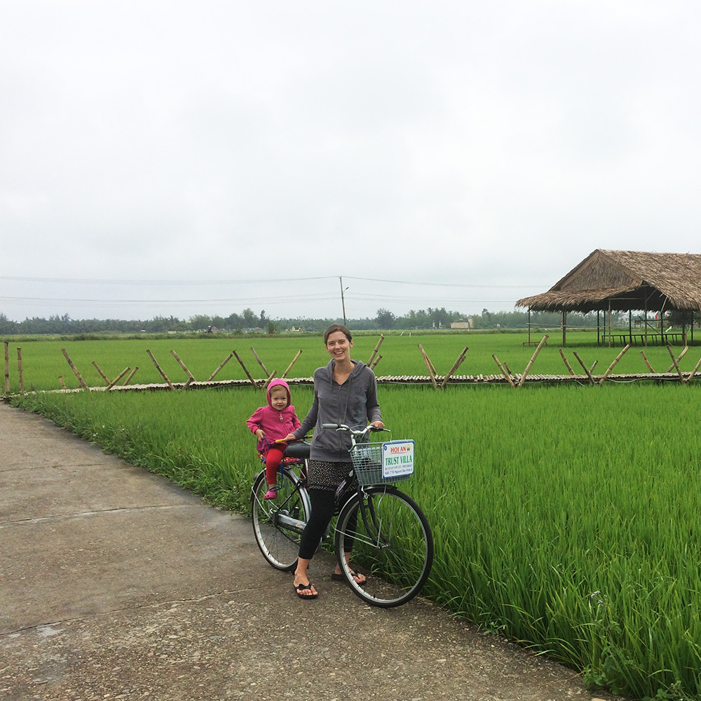 Rice field 2 minutes from our house in Hoi An