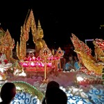 Buddha Statue on Wagon in Loi Krathong Parade